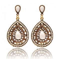 Earrings Ethnic Long Clip Crystal Vintage Party Cuff Wedding Bohemian Earrings For Women gold one  size