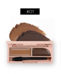 New rose gold two-color eyebrow powder natural modeling waterproof anti-sweat cream #01