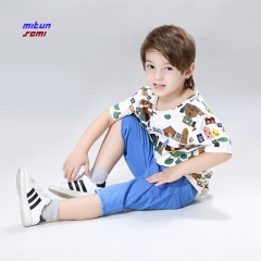 Boy clothing set kids sports suit children tracksuit  sweatshirt  casual clothes as  picture 110cm