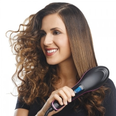 Electric Straight Hair Comb Barber Tools Hair Brush black normal