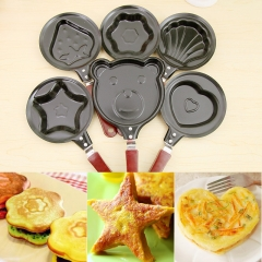 Fry Egg Pancakes Various Kitchen Mini Small Frying Pan  Housewares Various Kitchen Shaper Fried Tool heart one  size