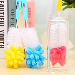 Baby Bottle Brushes Teat Sponge Baby Feeding Bottle Cleaning Brush Cup Brush color   randomly one  size