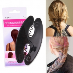 3 picese Magic French Hair Braiding Tool Weave Braider Roller Hair Twist Styling Maker black one size