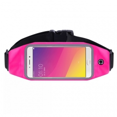 outdoor Mobile phone pockets running movement music The belt A touch screen pockets rose red Medium number