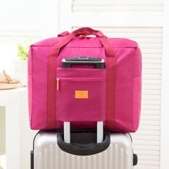 outdoor portable travel package High capacity waterproof Incorporated package can fold rose red large