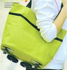 fashion home many Features Tugboat bag  fold  shopping shopping travel Incorporated bag pure green large