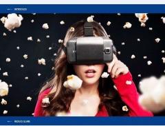 intelligen glasses VR Mobile phone virtual reality HD cinema Wearing a head intelligent  3D box black One size One size