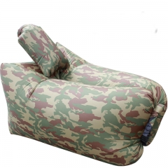 outdoor Inflatable sofa  Beach camping Portable Inflatable sleeping bag Inflatable pad camouflage