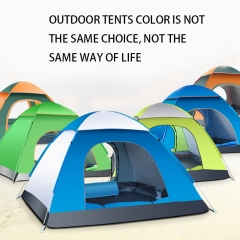 outdoor tent tent 3-4 people Fully automatic tent  camping  Set Beach tent blue 1-2 people