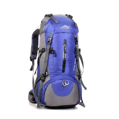 outdoor High capacity profession backpacks men and women travel Shoulders backpack Wearable Cracked blue one size