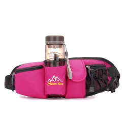 movement  Pockets men and women Multifunction Running bag Mini Small invisible waterproof Fitness rose red one size