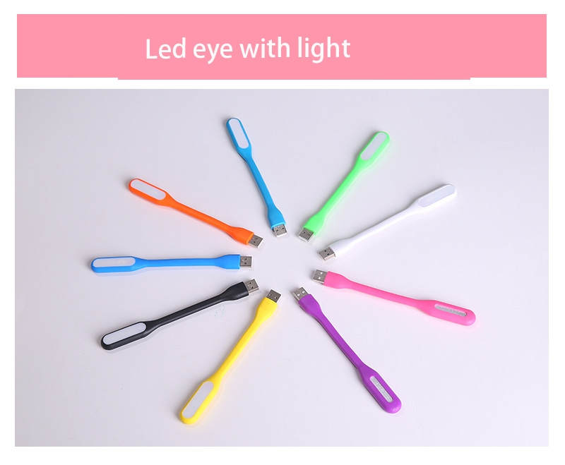 LED lights   notebook USB Millet light Computer lights Keyboard lights Soft light random color 17*1 1.2w 4