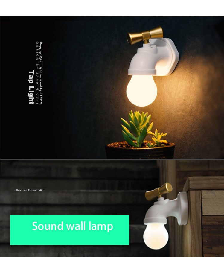 Kilimall: Creative The New Faucet Night Light LED Charging Wall ...