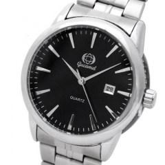 Figh Quality Fashion Calendar Belt Watch High Quality Upscale Men Quartz Watch black strip men