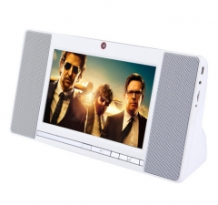 Intelligent Bluetooth Speaker flat Radio Wifi Touch Multimedia One Video Machine Portable Bass white one size