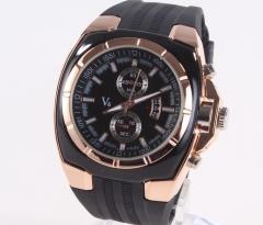 Men's Watch Black Business Watch Silicone Strap Quartz Watches black men