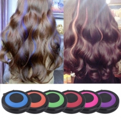 Oval box  One-time Dyeing powder  Western style 6 color equipment fashion Hair coloring Powder 6 colors