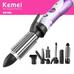 Hair Dryer Curls Modeling Seven In One Multifunction Straight Hair Curls Home Hairy Purple white one  size