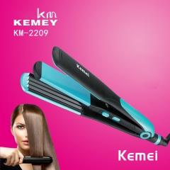 Straight roll Dual use Curly sticks 2 in 1 Negative ions Corn clip Hairdressing tool black blue one size