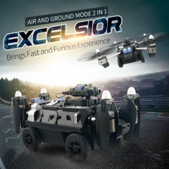Flying Tank Mobile Phone Remote Control WIFI Land And Air Four Axes UAV 200w HD Camera black 28.2*16.6*20.2