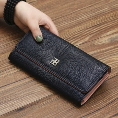 The New Purse Ms Wallet Western Style Fashion Hand Bag Female Wallet Wallet black one size