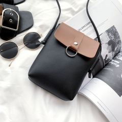 Mini Packet The New Mobile Phone Bag Small Square Bag Wild Shoulder Bags Messenger Bag black one size