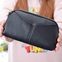 The New Ms High Capacity Hand Bag Multifunction Multi-card Bit Fashion Leisure Wallet' black one size