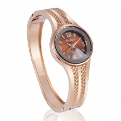 Ms Fashion Watch Fashion Alloy Bracelet Upscale Trend Quartz Watch rose gold