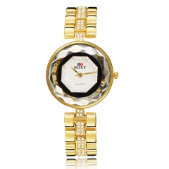 The New Ms Diamond Bracelet Watch Small dial Ms Gold Watch gold