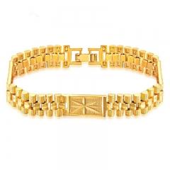 Western style Fashion Classic Bracelet gold Men Personality Bracelet gold one size