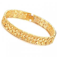 Men Personality Plated 18K gold The New Honorable Male Fashion Bracelet gold one size