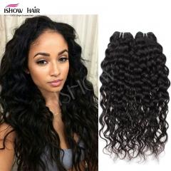 Virgin Hair Water Wave Brazilian Hair Weave Bundles 100% Unprocessed Human Hair  Water Wave Hair Natural Color 8inch
