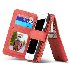Luxury Wallet Phone Bag Leather Case For iPhone 7 6 6s Plus 5s 5 Samsung Galaxy S7 red s7