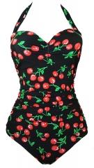 One Piece Bathing Suit Women Ruffles Beachwear Push up Swimsuit Plus Size Swimwear Monokin S-4XL red xxx-large