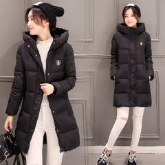 Womens Hooded Warm Winter Faux Fur Lined Parkas Long Coats Black M