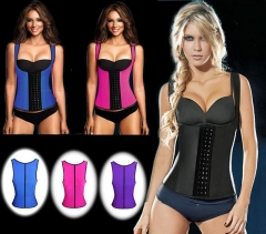 Women's Latex Sport Girdle Waist Training Corset Waist Body Shaper black s