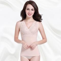 Women Thermal Soft Vest Stretch Underwear Thick Velvet Corset Slim Waist Abdomen Warm Body Shapers nude XL