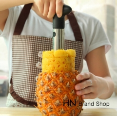 HN Brand-Creative Stainless Steel Fruit Pineapple Corer Slicers Peeler Parer Cutter Kitchen Tool Silver as picture