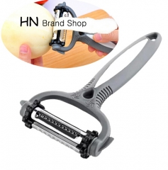HN Brand-360 Degree Rotary Carrot Potato Peeler Melon Gadget turnip Slicer Cutter Kitchen Tools Grey as picture