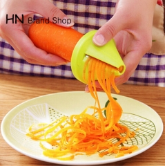 HN Brand-Gadget Funnel Model Spiral Slicer Vegetable Shred Device Cooking Salad Carrot Radish Cutter multi as picture