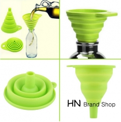 HN Brand-New Mini Silicone Gel Foldable Collapsible Style Funnel Hopper Kitchen cooking tools multi as picture