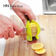 HN Brand-Tomato Slicer Fruits Cutter Stand Tomato Lemon Cutter Utensilios Cozinha Assistant Lounged green as picture