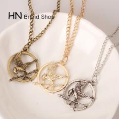 HN Brand-1Pcs/Set New Beautiful Mock a bird Necklace Pendant for Christmas Women Jewellery gold chain length:72cm