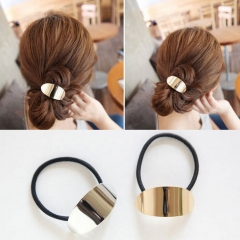 HN Brand-1 piece/Set New Elliptic concave Alloy Hairpin For Women Hair Jewellery Accessories Gift gold 4.75cm*18.5cm