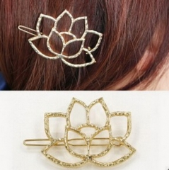 HN Brand-1 piece/Set New Lotus modeling Alloy Hairpin For Women Hair Jewellery Accessories Gift gold 3.86cm*5.71cm