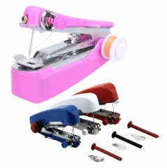 HN Brand-1Pcs/Set New Hand-Held Clothes Fabrics Sewing Machine Travel Use Mini Convenience Cordless Color random One Size