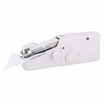 HN Brand-Mini Portable Handheld Fabrics Electric  sewing machines Stitch Sew needlework Clothes White 20cm x 3cm x 6.5cm