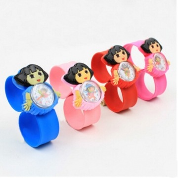 HN-1Pcs/Set New Give a gift to children cartoon animals animation Pointer Girl Watches Toy wholesale Dora