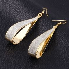 HN-1 Pair/Set New Beautiful dull polish Drip type alloy Drop earrings For Women Jewellery Gift gold as picture