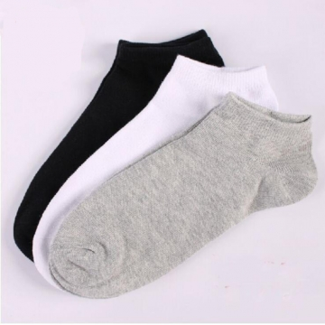 HN-1 Pair/Set New Fashion Boat Socks For Men Cotton Socks Ventilation Menswear Accessories Gift Black telescopic elastic